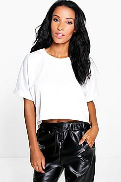 Tori Curved Hem Sweat