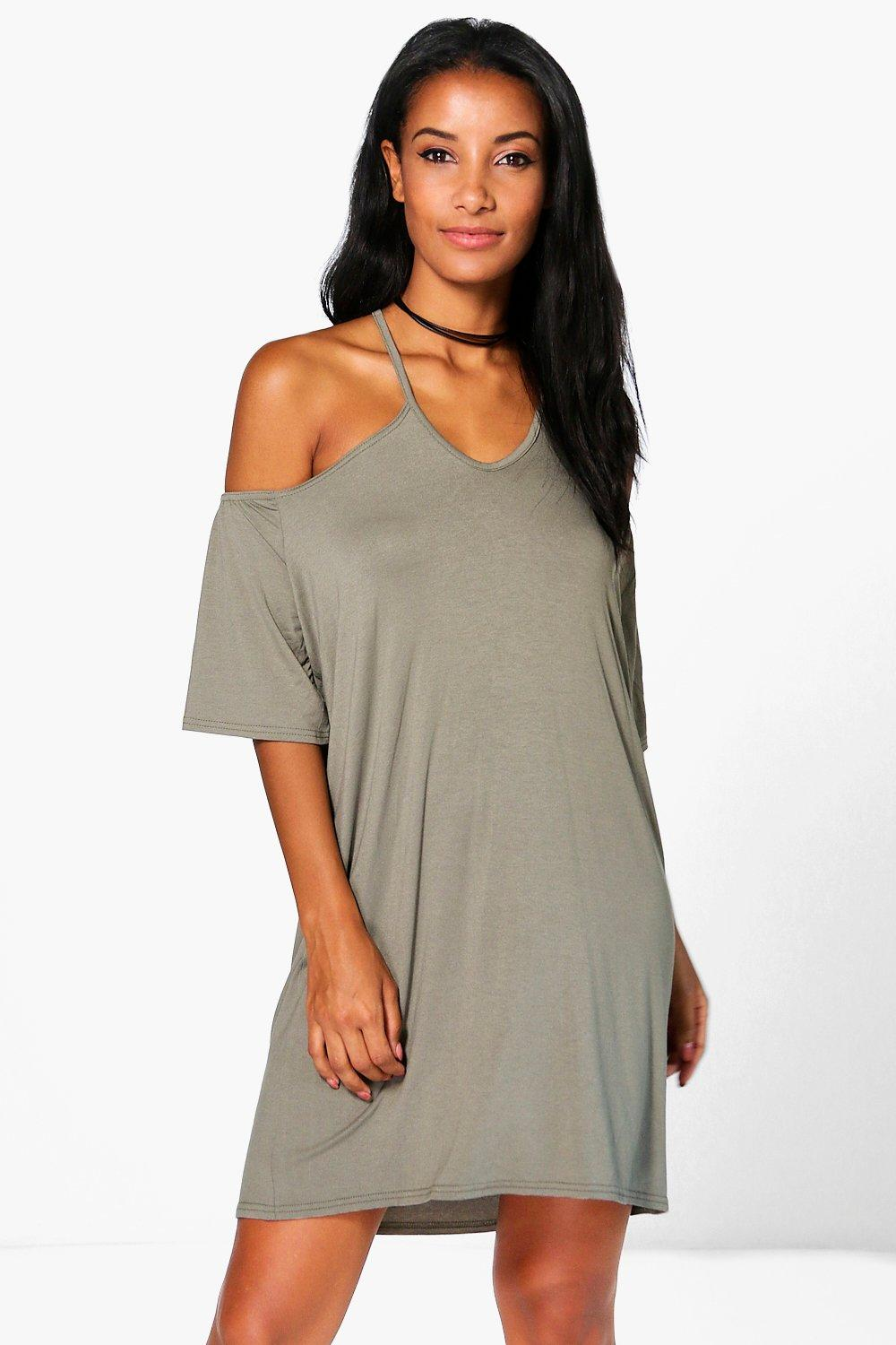 Samara Strappy Front Off Shoulder Swing dress
