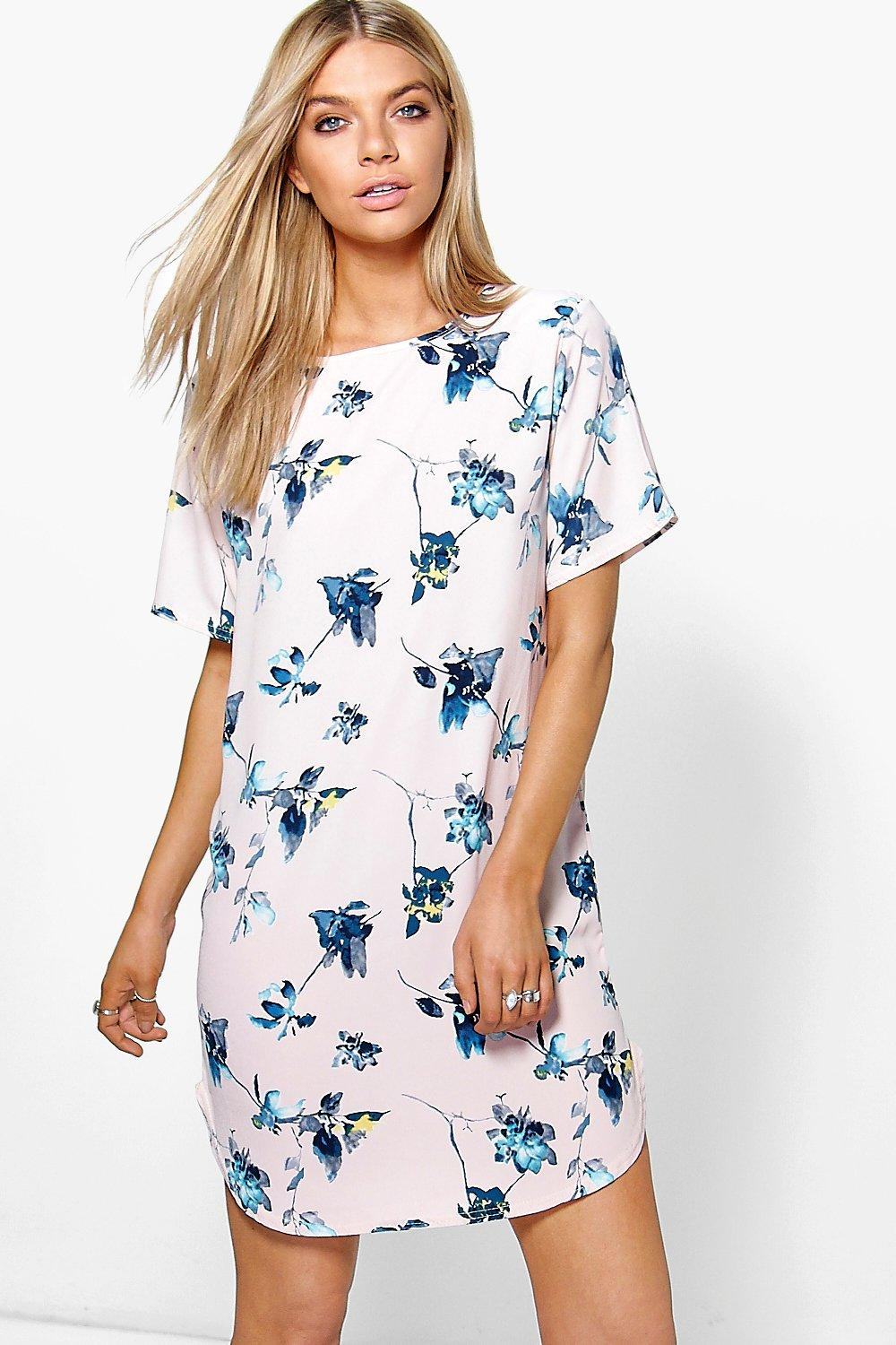 Clarissa Floral Cold Shoulder Shift Dress