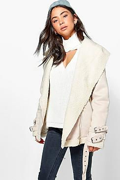 Lillie Bonded Aviator Jacket