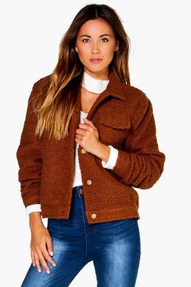 Megan Teddy Boxy 2 Pocket Jacket
