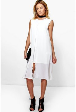 Natalie Split Front Midi Dress