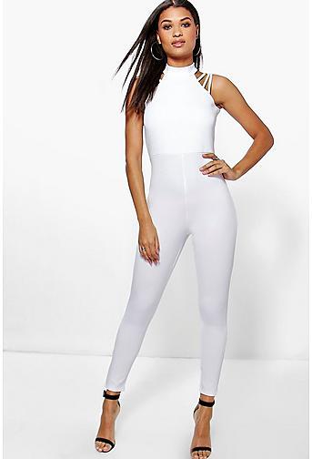 Suzi Strap Work Skinny Leg Jumpsuit