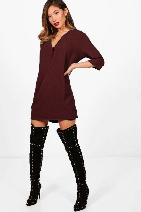 Lily Wrap Front Shift Dress