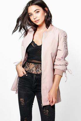 Faith Lace Up Detail Bomber