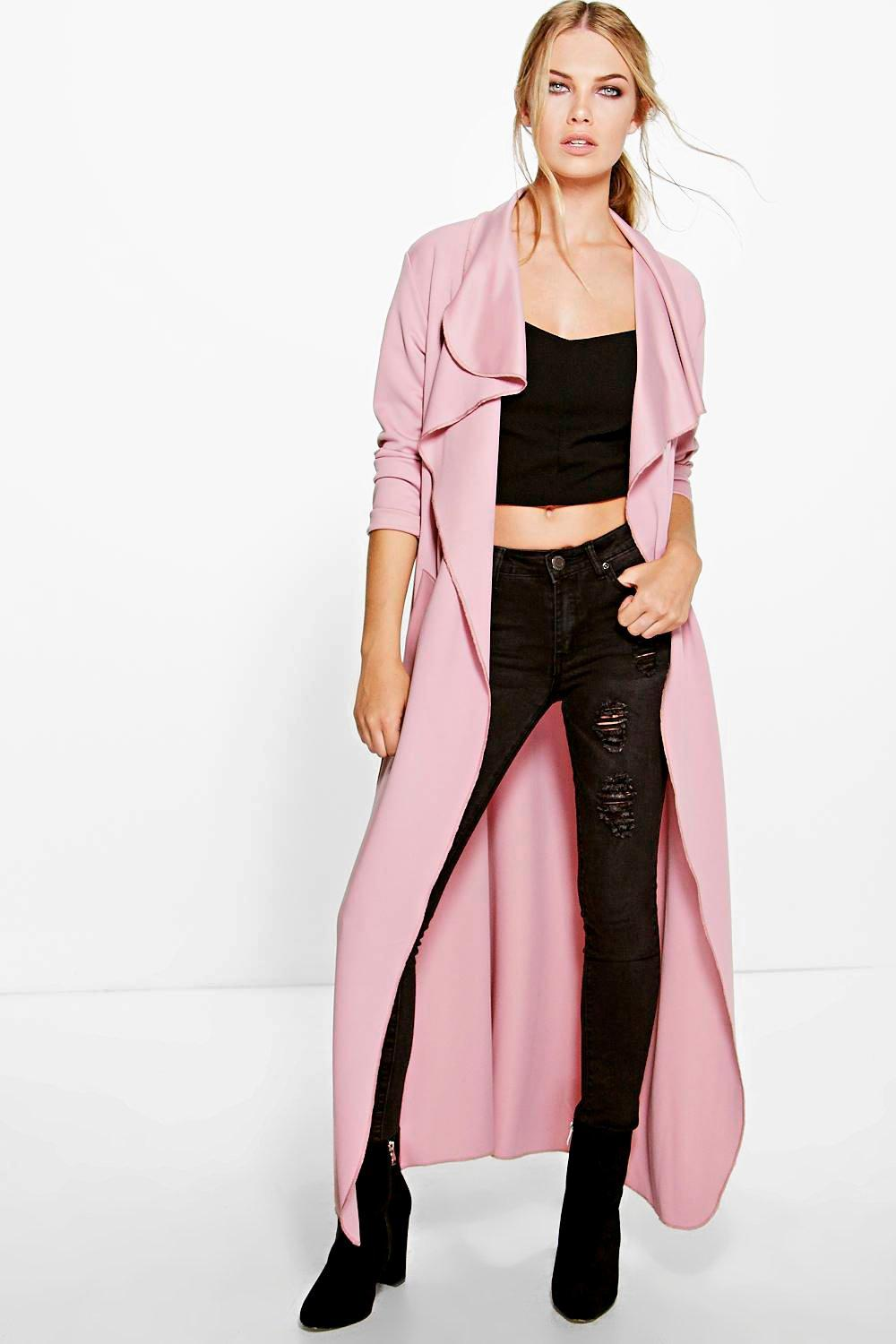 Katie Maxi Belted Shawl Collar Duster