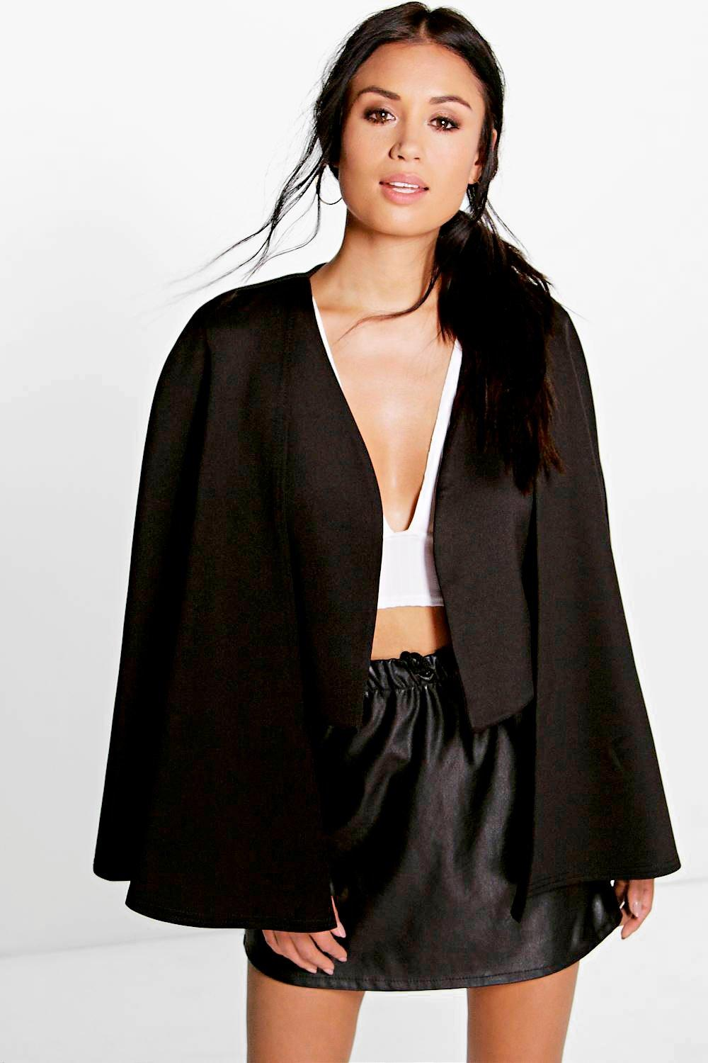 Ruby Collarless Cape