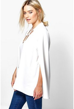 Lucy Notch Neck Tailored Cape