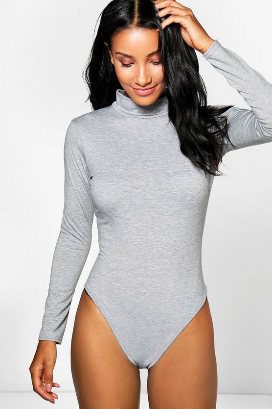 Felicity Turtle Neck Long Sleeve Basic Bodysuit