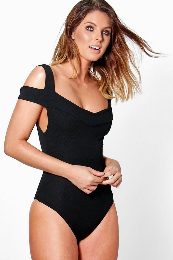 Lucy Textured Off The Shoulder Strappy Body
