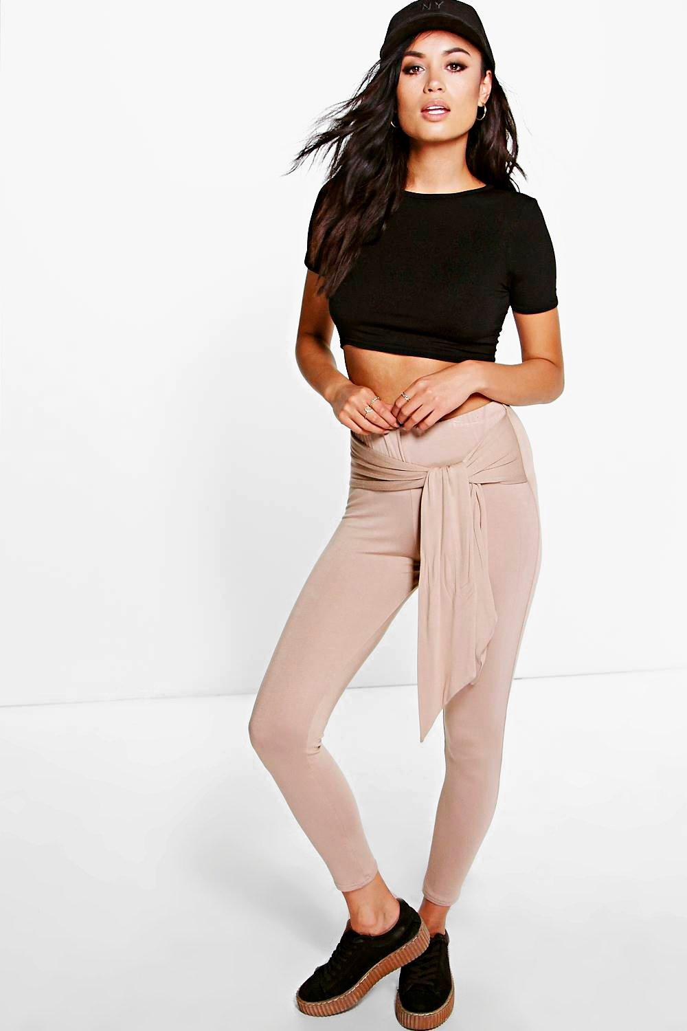 Royah Tie Waist Viscose Leggings