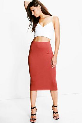 Mari Longer Length Viscose Midi Skirt