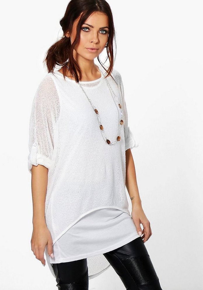Anna Marl Jumper With Necklace