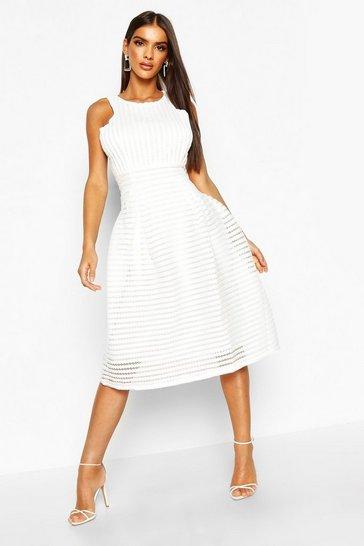 Ivory Boutique  Panelled Full Skirt Skater Dress