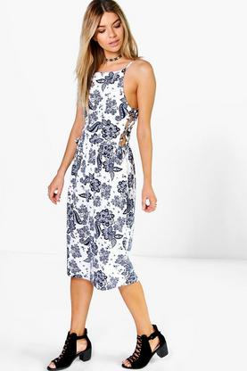 Tilly Tie Side Midi Dress