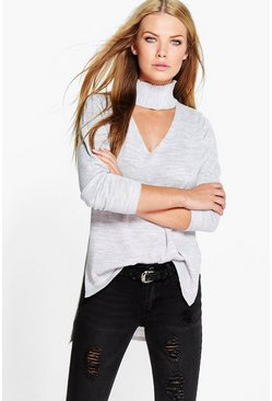 Lillie Choker Strap V Neck Jumper