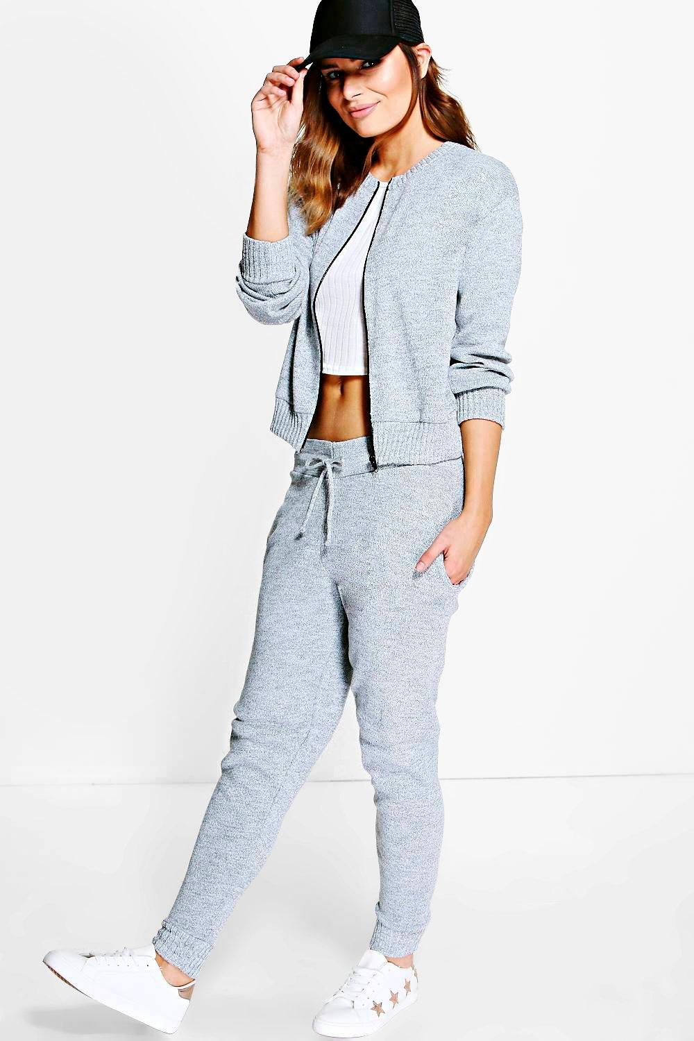 Boutique Mia Bomber Knitted Loungewear Set