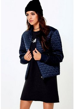Boutique Sofia Quilted Bomber Jacket