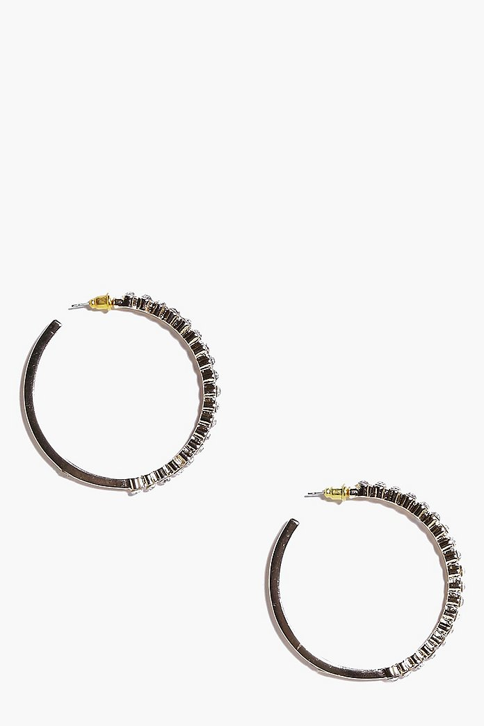 Freya Diamante Crystal Hoop Earrings
