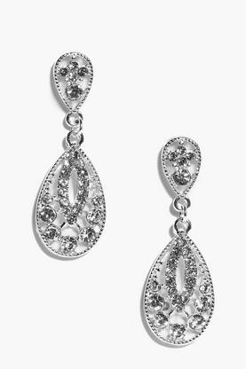Ella Diamante Filigree Drop Earrings