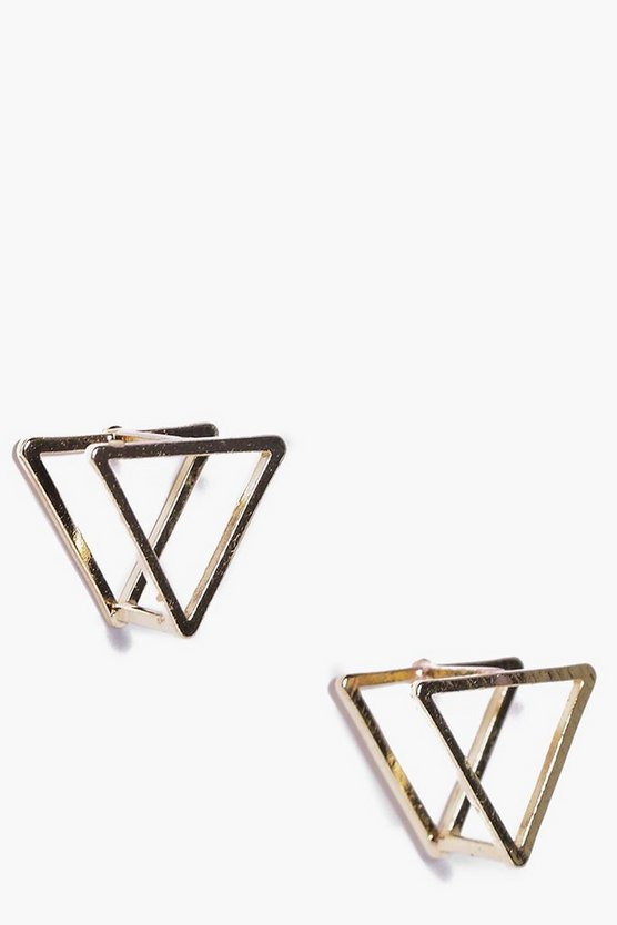 Prism 3D Stud Earrings
