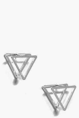 Elena Prism 3D Stud Earrings