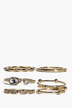 Grace Mixed Detail Ring Pack