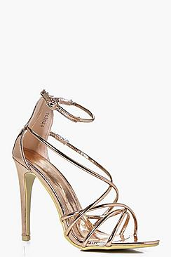 Harriet Asymmetric Strappy Heel