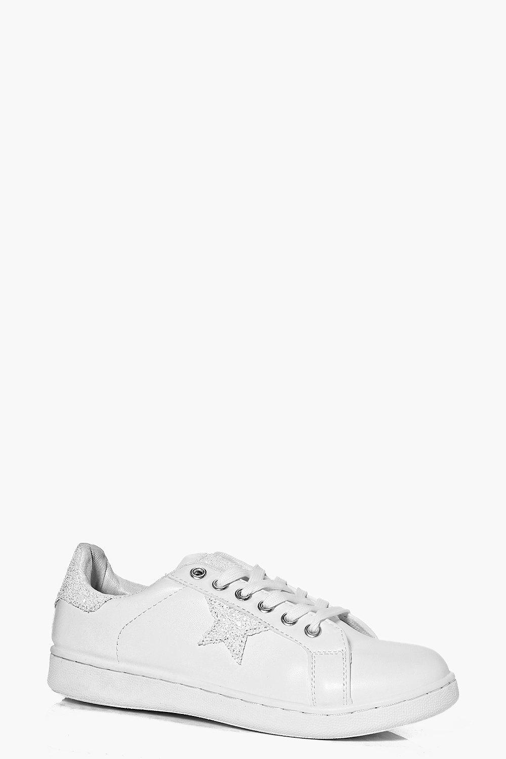 Evelyn Star Detail Lace Up Trainer