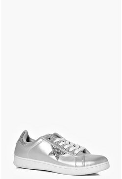 Erin Star Detail Lace Up Trainer