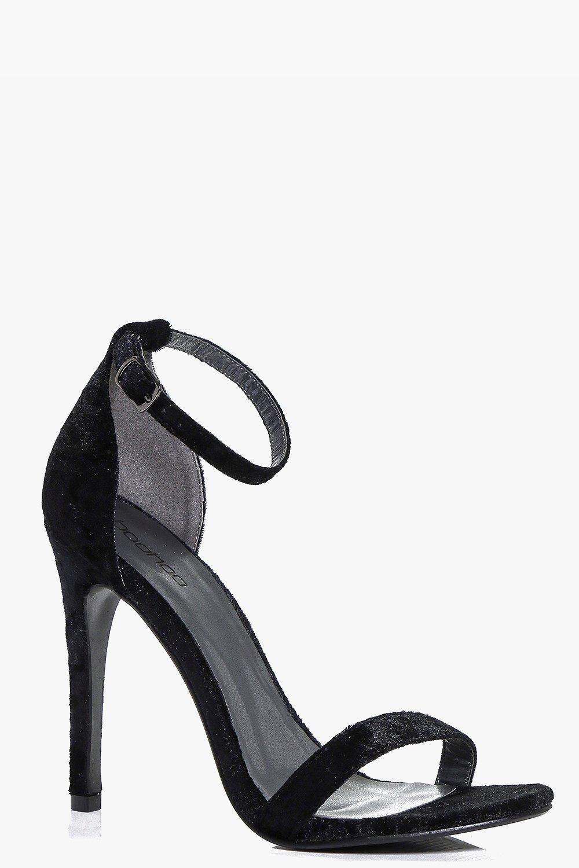 Two Part Velvet Stiletto black