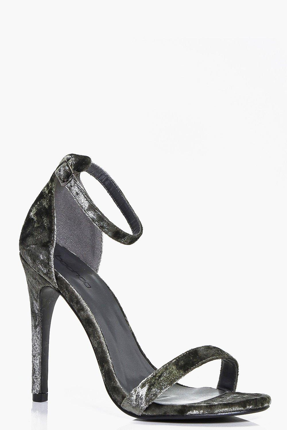 Two Part Velvet Stiletto khaki