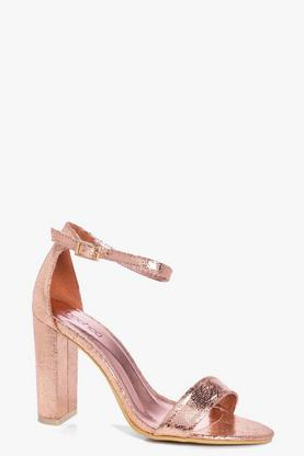 Felicity Block Heel Two Part Sandal