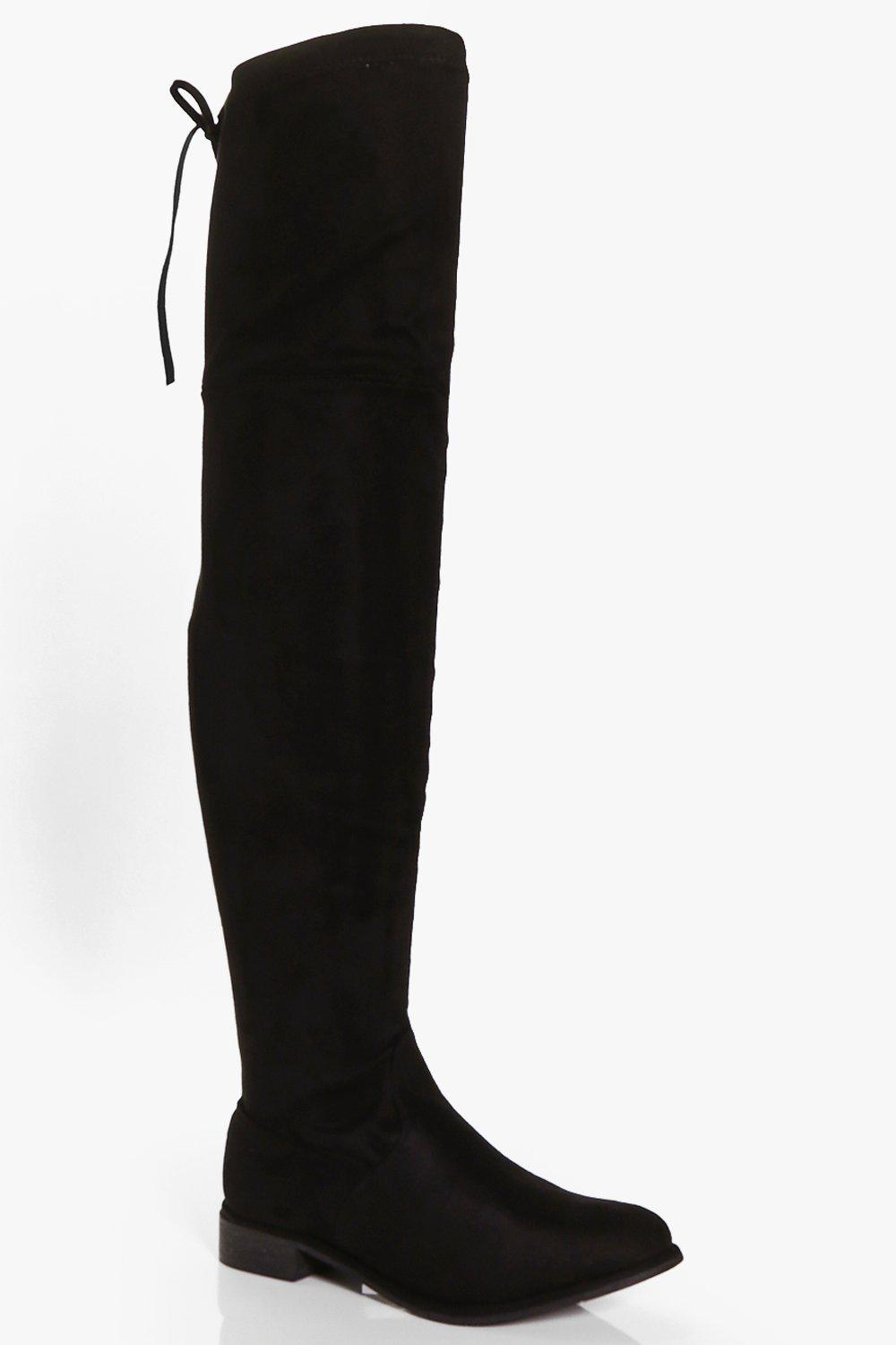 Taylor Flat Over The Knee Boot | Boohoo