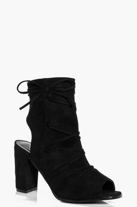 Orla Wrap Strap Peeptoe Shoe Boot