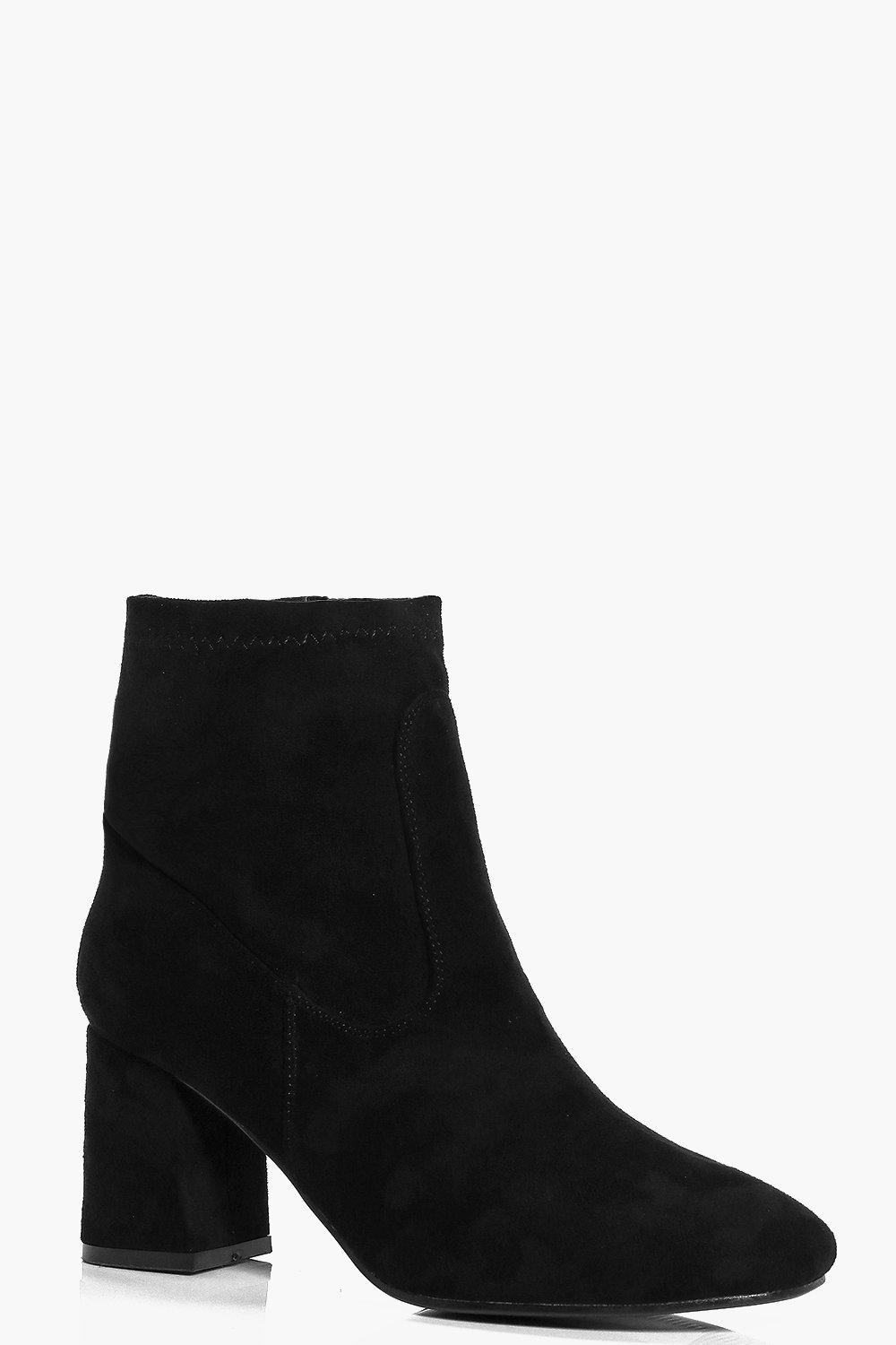 Nina Block Heel Sock Boot
