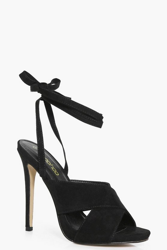 Amy Cross Front Wrap Strap Stiletto Heel