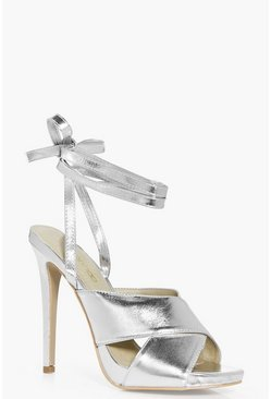 Ivy Cross Front Wrap Strap Stiletto Heel