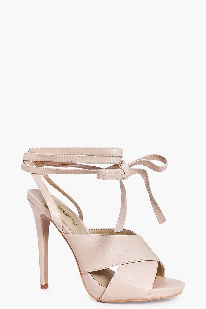Zoe Cross Front Wrap Strap Stiletto Heel