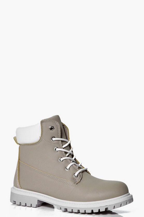 Vanessa Lace Up Hiker Boot