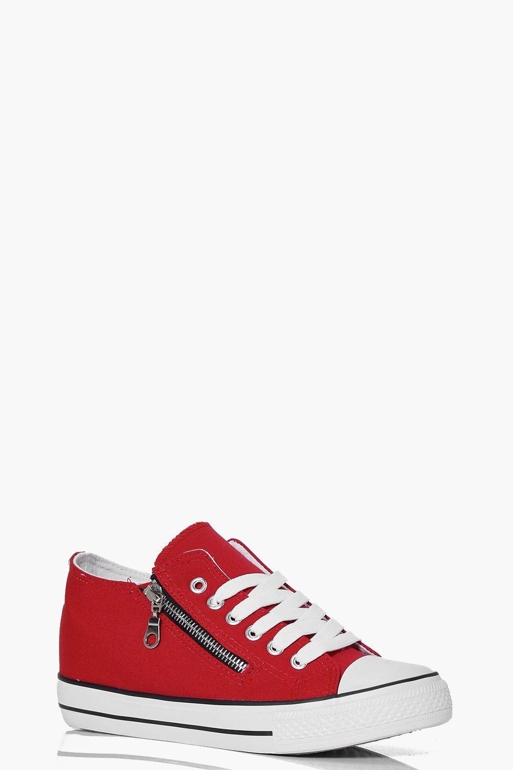 Ruby Side Zip Lace Up Canvas