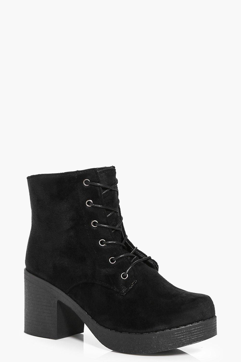 Julia Lace Up Chunky Sole Boot