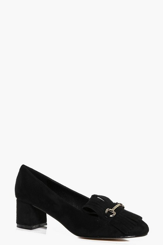 Martha Block Heel Loafer