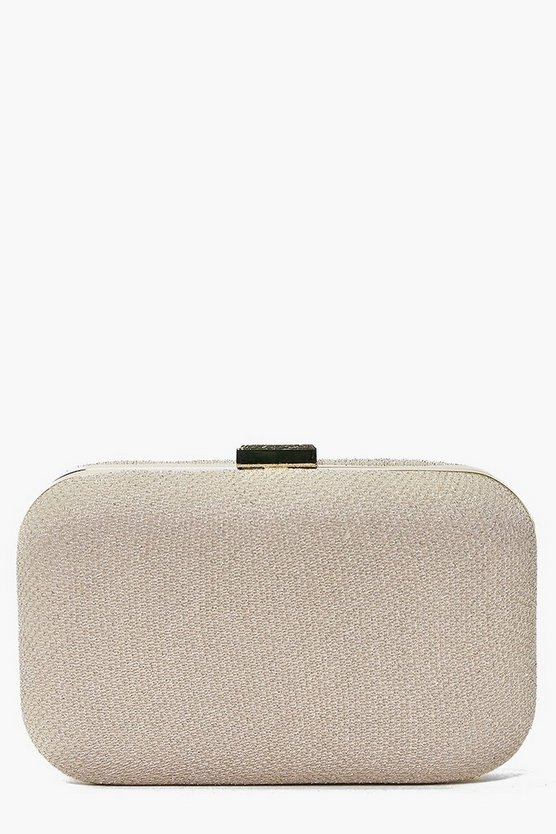 Emma Glitter Shimmer Box Clutch Bag