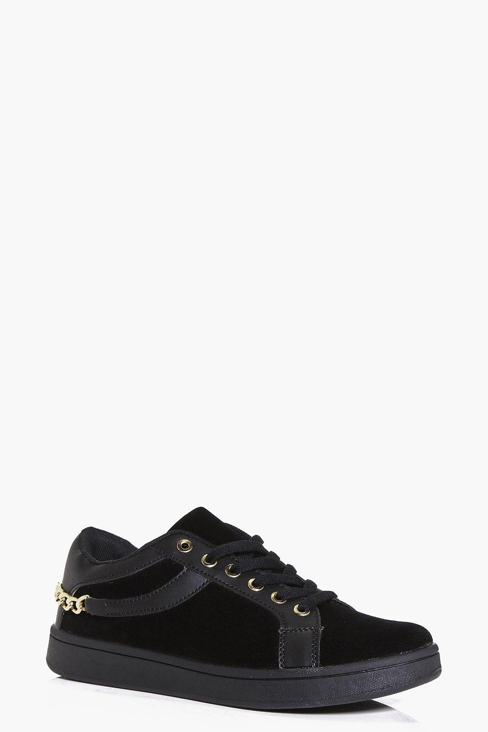 Isla Chain Detail Lace Up Trainer