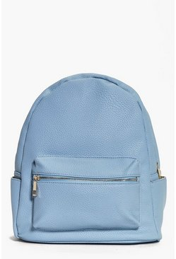 Alice Metal Zip Detail Rucksack