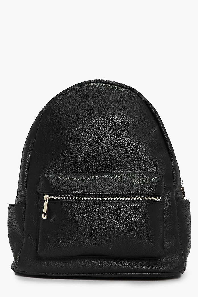 Megan Metal Zip Detail Rucksack
