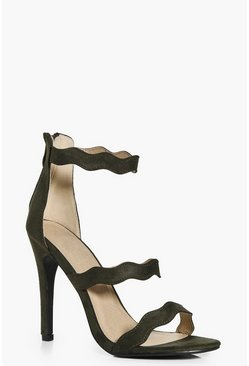 Olivia Three Wave Strap Heels