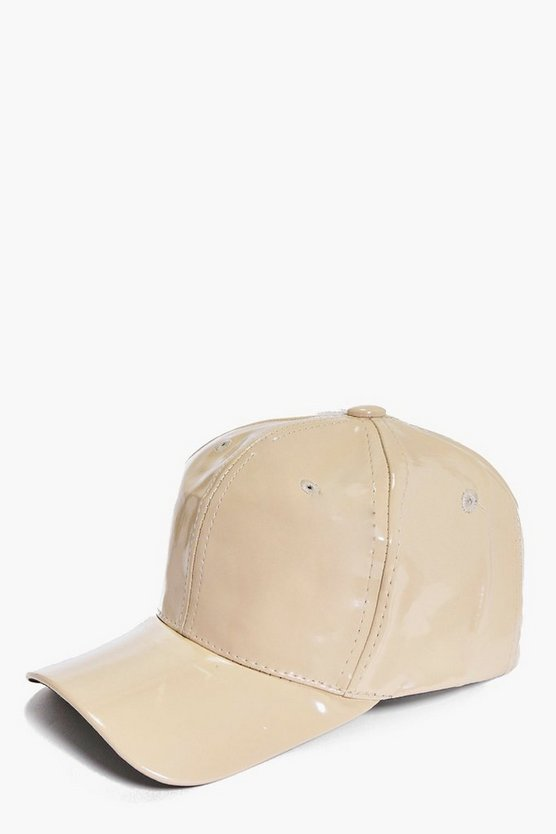 Lizzie Patent Leather Look Baseball Cap