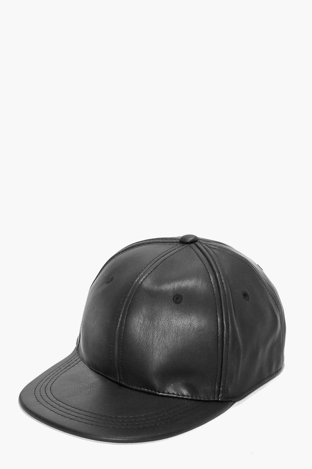 Tia Leather Look Baseball Cap